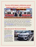 Toyota of Clermont celebrates grand opening with new Toyota specials!