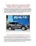 Toyota of Clermont knows the 2013 Toyota RAV4 is going to be a hit!