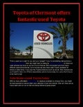 Toyota of Clermont offers fantastic used Toyota