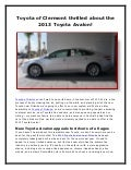 Toyota of Clermont thrilled about the 2013 Toyota Avalon