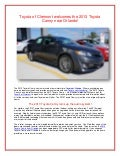 Toyota of Clermont welcomes the 2013 Toyota Camry near Orlando!