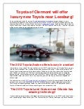 Toyota of Clermont will offer luxury new Toyota near Leesburg!