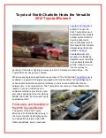 Toyota of N Charlotte hosts the 2012 Toyota 4 Runner