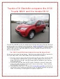 Toyota of N Charlotte compares the 2013 Toyota RAV4 to the Honda CR-V!