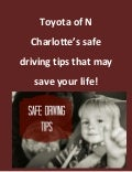 Toyota of N Charlotte safe driving tips