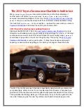 Toyota of North Charlotte has the affordable new Toyota Tacoma for you!