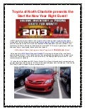 Toyota of North Charlotte presents the Start the New Year Right Event!