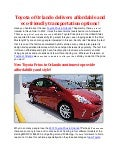Toyota of Orlando delivers affordable and eco friendly transportation options