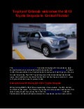 Toyota of Orlando welcomes the 2013 Toyota Sequoia to Central Florida