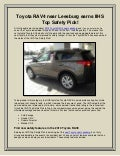 Toyota RAV4 near Leesburg earns IIHS Top Safety Pick
