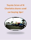 Toyota Scion used car buying tips