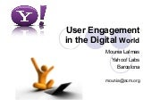 User engagement in the digital world