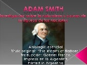 "Adam Smith ""Riqueza de las Naciones"""
