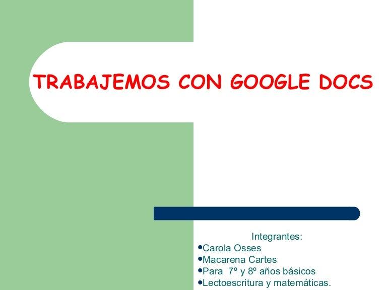 Como usar google docs