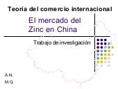 El mercado del zinc en China