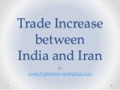 Trade Increase Between India and Iran