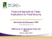 Food and Agricultural Trade: Implic...