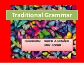 Traditional grammar