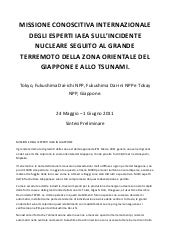 Mission IAEA sull'incidente nuclear...