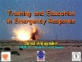 Training in Crisis Response