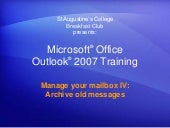 Training presentation outlook 2007 ...