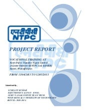 SUMMER Training report AT NTPC FOR ...