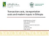Transaction costs, transportation c...