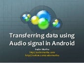 Transfering data using audio signal in android