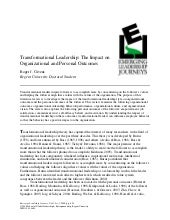 Transformational leadership  the im...