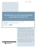 Transformation of the Enterprise Network using Passive Optical LAN