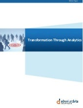 Transformation through analytics   ...
