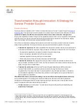 Transformation Through Innovation: A Strategy For Service Provider Success