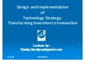 IMT Lecture: Transforming Invention...
