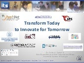 Transform today to innovate for tom...