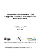 Transgender Primary Medical Care   ...