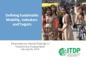Defining Sustainable Mobility, Indi...