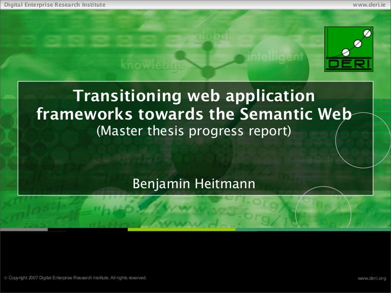 Semantic web master thesis