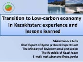 Transition to low carbon economy in...