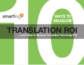 Translation Technology ROI