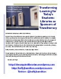 Transforming Learning for Today's Students: Libraries as Sponsors of Transliteracy  Flyer