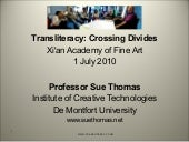 Transliteracy Sue Thomas Xi'an (Eng...