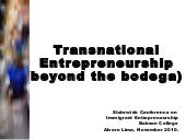 Transnational Entrepreneurship: Bey...