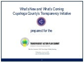 Cuyahoga County Transparency Update