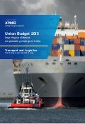 Impact of Budget 2015 on Transport and Logistics sector