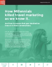 How Millennials Killed Travel Marketing As We Know It