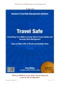 Travel safe what you NEED to know about business travel safety and security risk management