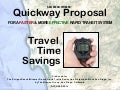 San Diego Quickway Proposal Travel Time Savings