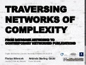 Traversing Networks of Complexity