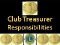 Lions Club Treasurer 2013 2014