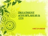 Treatment of CIN & DYSPLASIAS